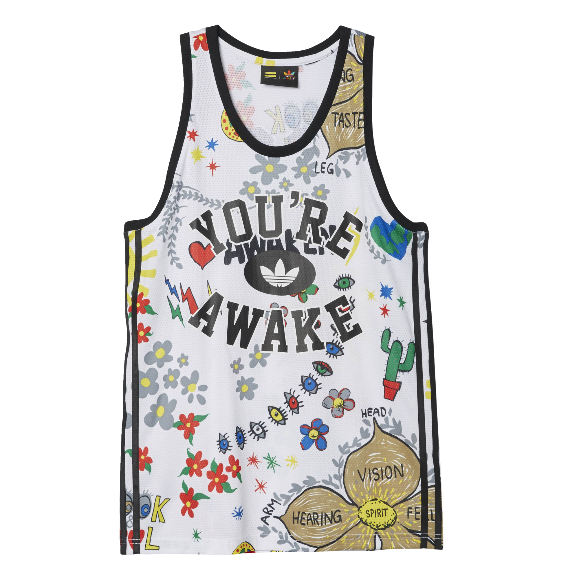Pharrell Adidas Artist Doodle By Williams Originals Top Tank qVzGjULMpS