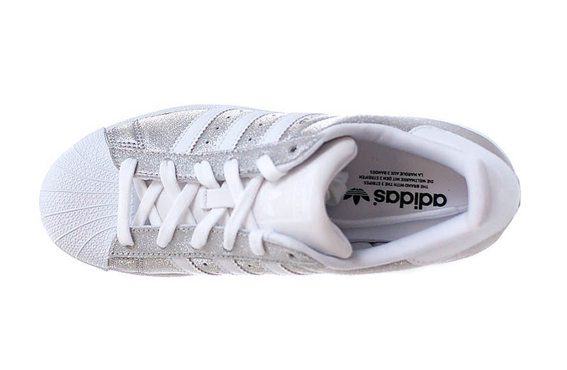 adidas superstar plata brillante
