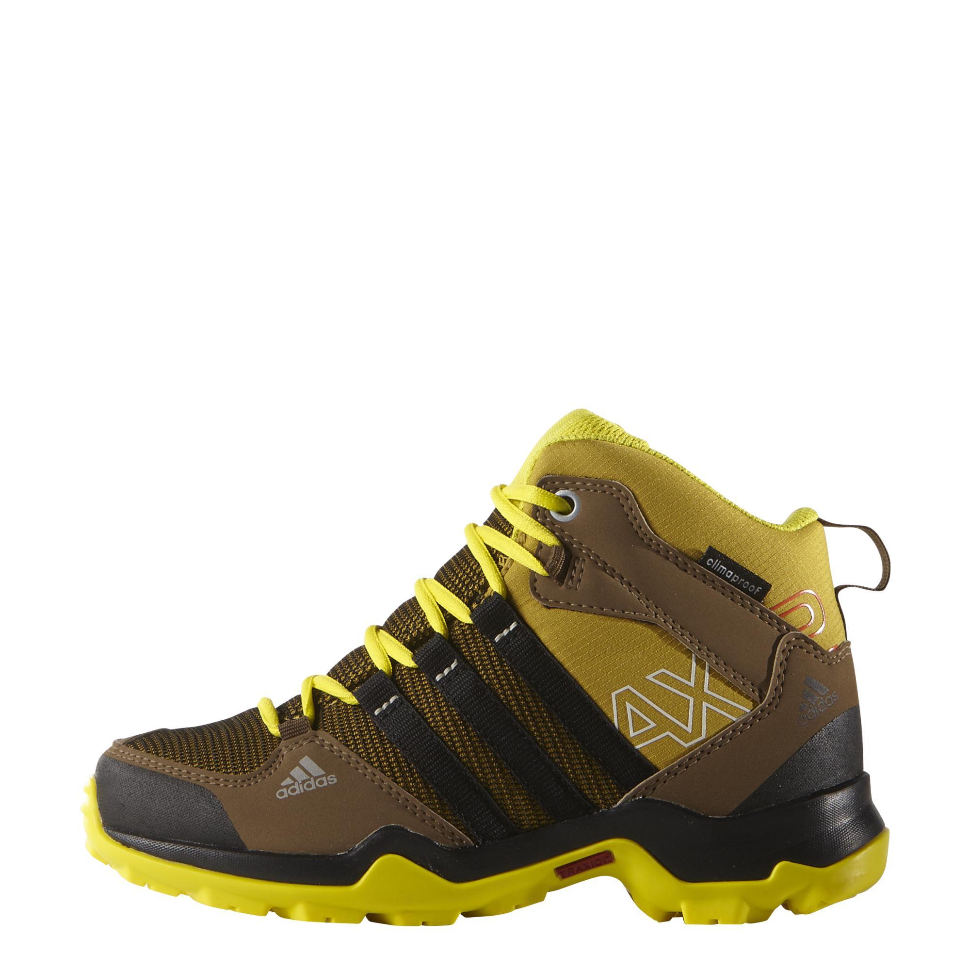 Botas de montaña Botas adidas AX2 Mid azul amarillo infantil