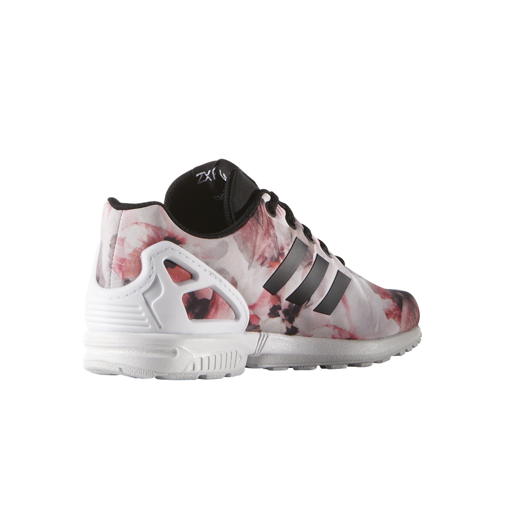 65905cec108 ... where to buy adidas originals zx flux k flowers rosa blanco negro 69870  df450