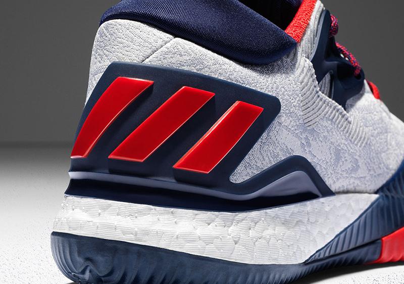 Adidas Crazylight Impulsar Baja 2016 Blanco / Azul Marino Y / Escarlata DsVSZI1a