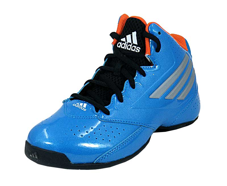 zapatillas adidas niño azul y naranja
