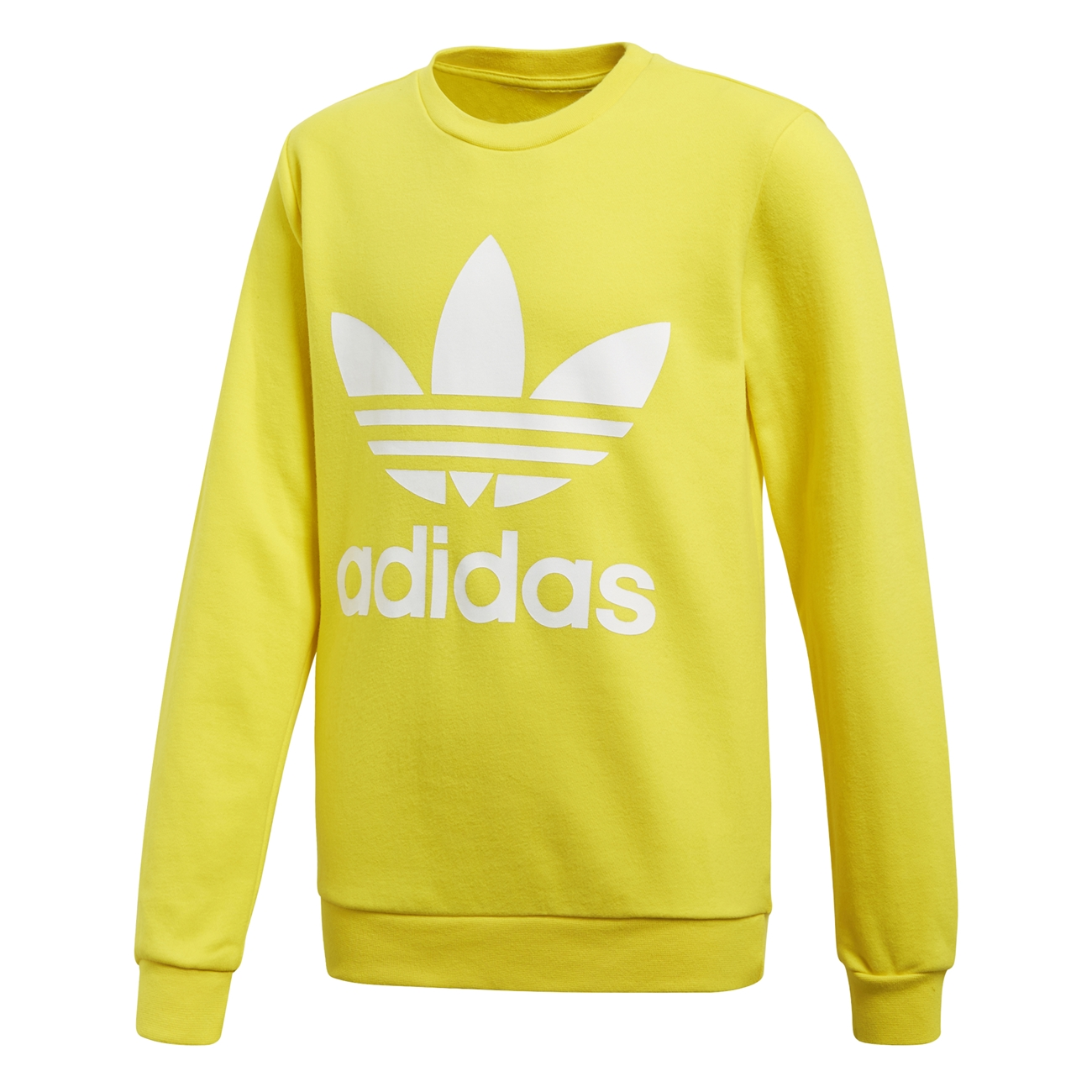 detailed look e84e7 ef6bf Adidas Originals Junior Trefoil Crew (Yellow)