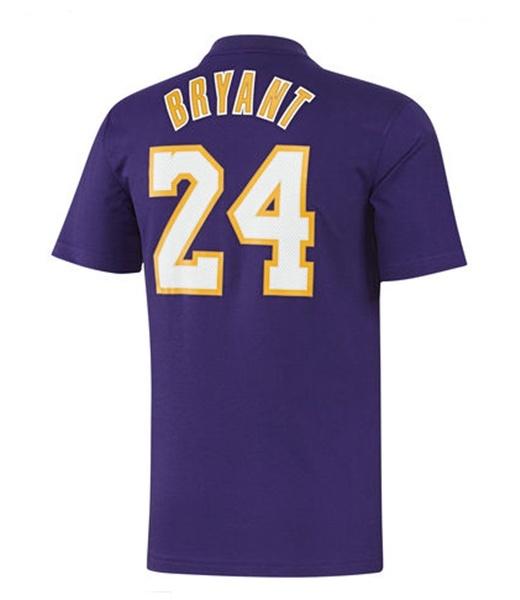 f2e642837 Adidas NBA Camiseta Gametime Kobe Bryant Lakers (purple)