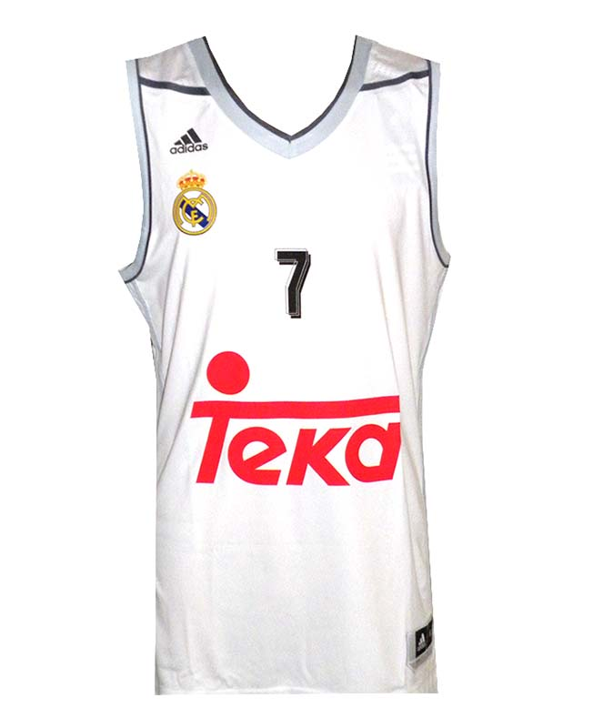 9898341c72d66 ... Camiseta Luka Doncic  7  Real Madrid Basket 2015-2016 (blanco gris)