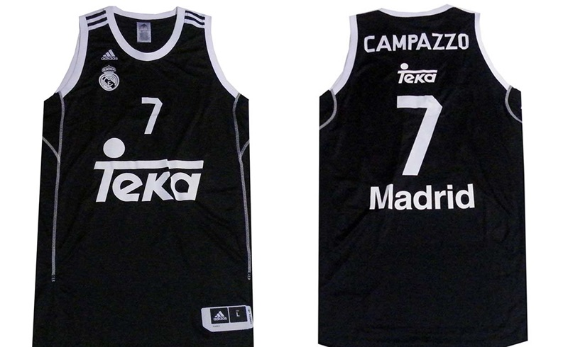 Camiseta Campazzo Real Madrid Basket 2014 Negra