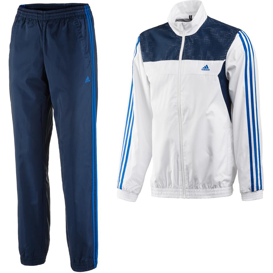 comprar lo mejor elegante en estilo diseño innovador Adidas Chándal Train Woven CH (azul/blanco)
