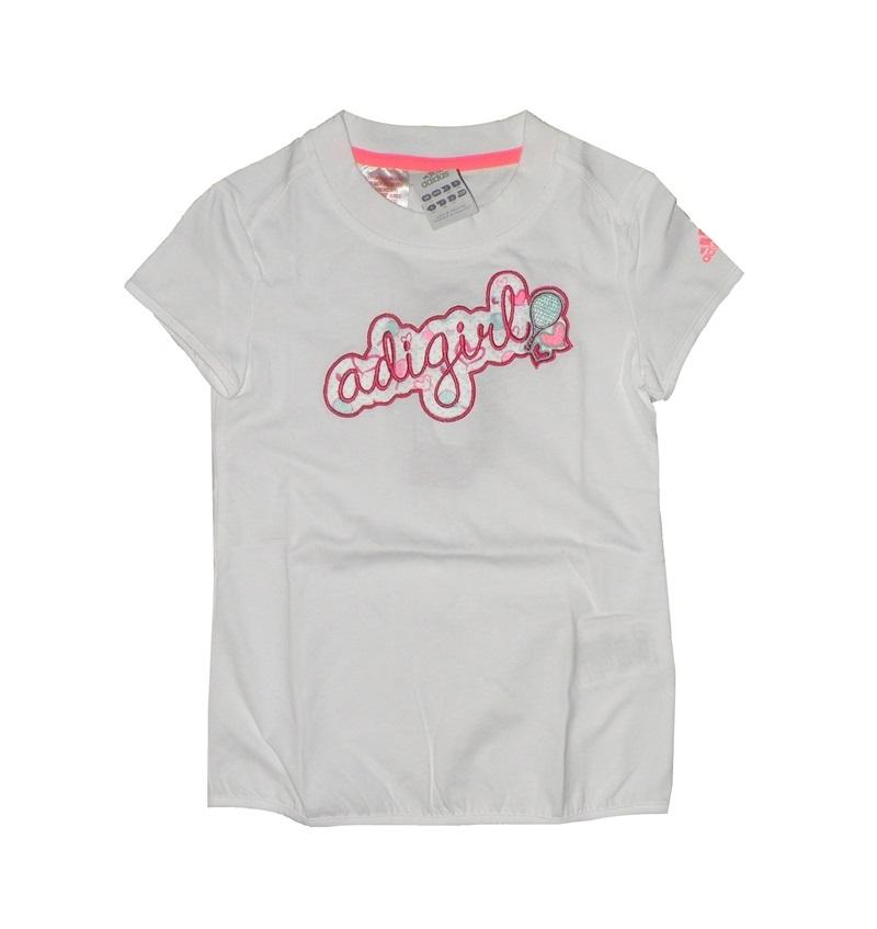 Ashley Furman Ambiente Intacto  Adidas Camiseta Niña Adigirl T (blanca)