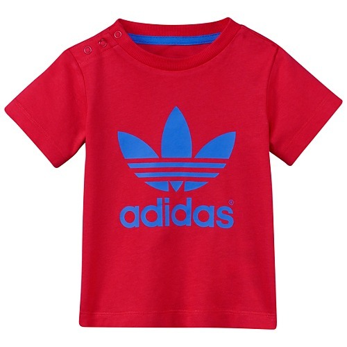 74ad683f50 Adidas Camiseta Trefoil Infantil (rojo azul)