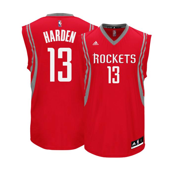 Adidas Camiseta Réplica James Harden  13  Rockets (rojo blanco gris) 50bac2cc3e1