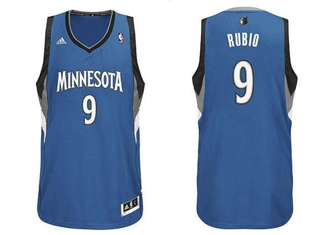 Adidas Ricky Camiseta azulblanco Rubio Swingman Nba Minnesota 4rrpd