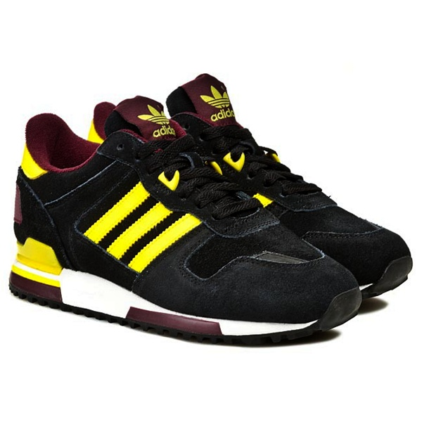 finest selection b6000 de81d Adidas Original ZX 700 (negro amarillo granate)