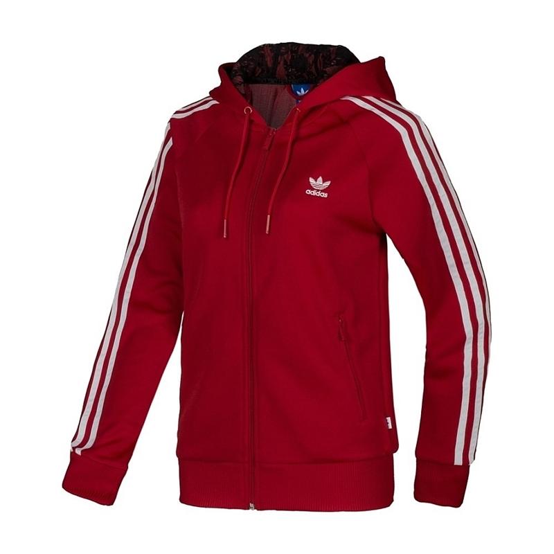 Adidas Original Sudadera Mujer Girly Zip Hoody (rojo/blaco)