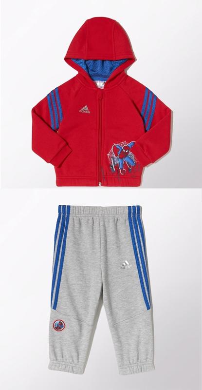 Adidas Chandal Capucha Bebé Marvel Spider-Man (rojo azul gris) a58fbd3fd321a