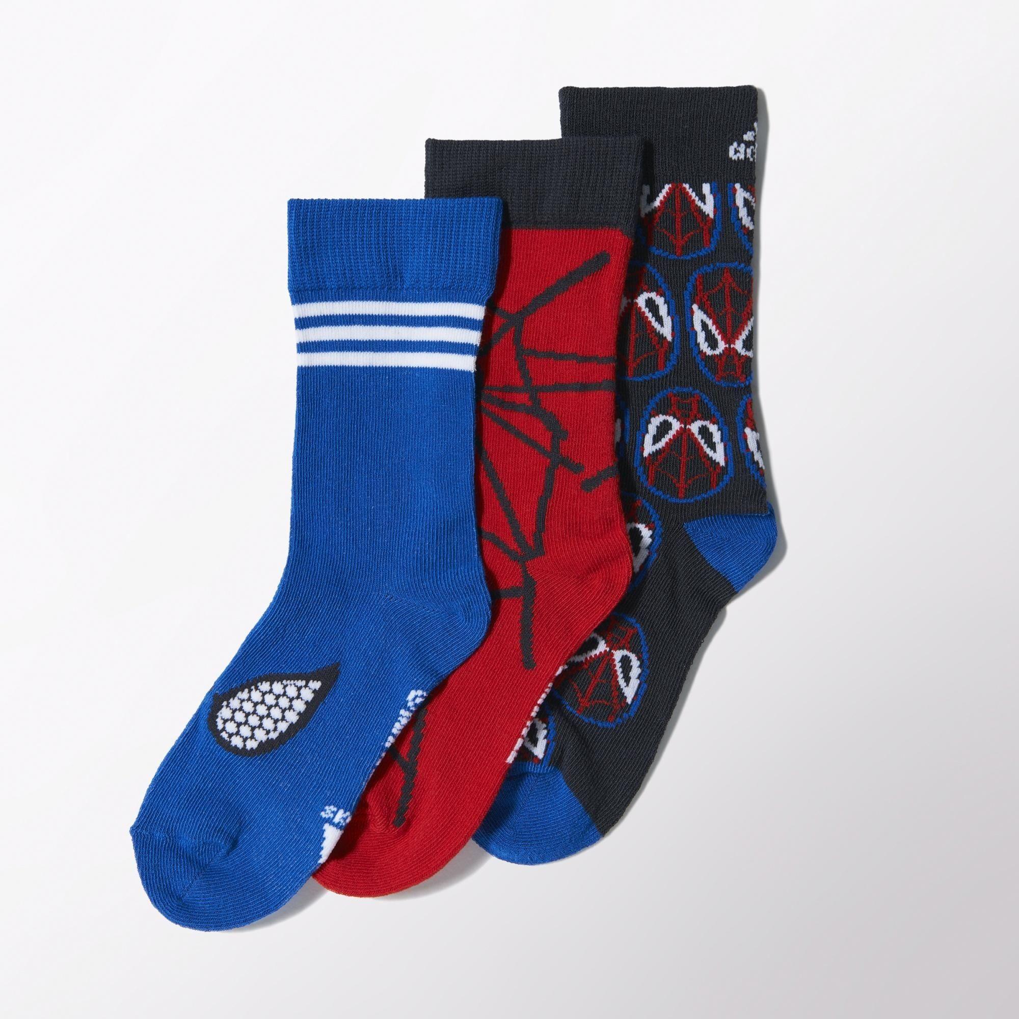 facil de manejar el plastico Crudo  Adidas Calcetines Niño Spider-Man (azul/rojo/marino)