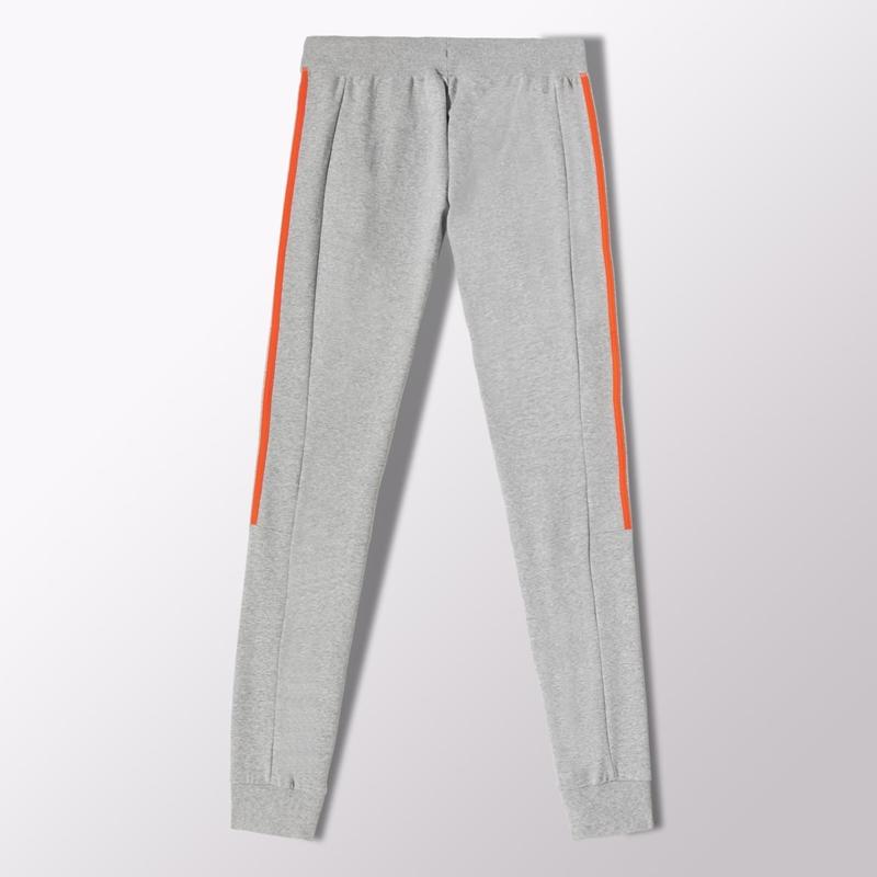 estilo clásico busca lo mejor diseños atractivos Adidas Pantalón Mujer Essentials Brushed (gris/naranja fluor)