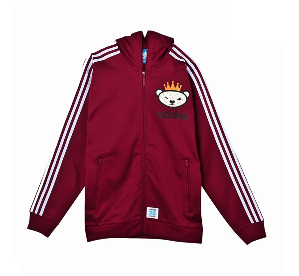 adidas originals chaqueta burdeos