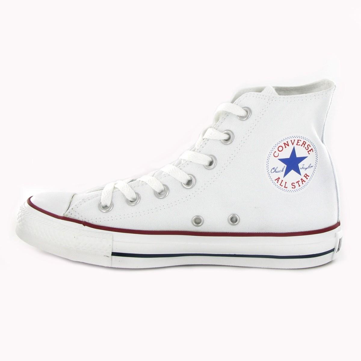 converse all star blancas mujer lona