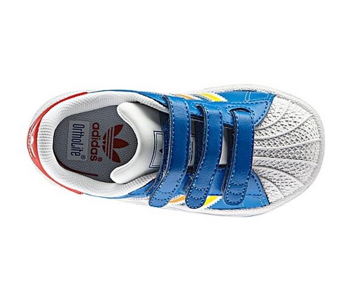 Orden alfabetico bicapa Crueldad  Adidas Superstar 2 CMF Inf (azulcielo/rojo/naranja/ama)