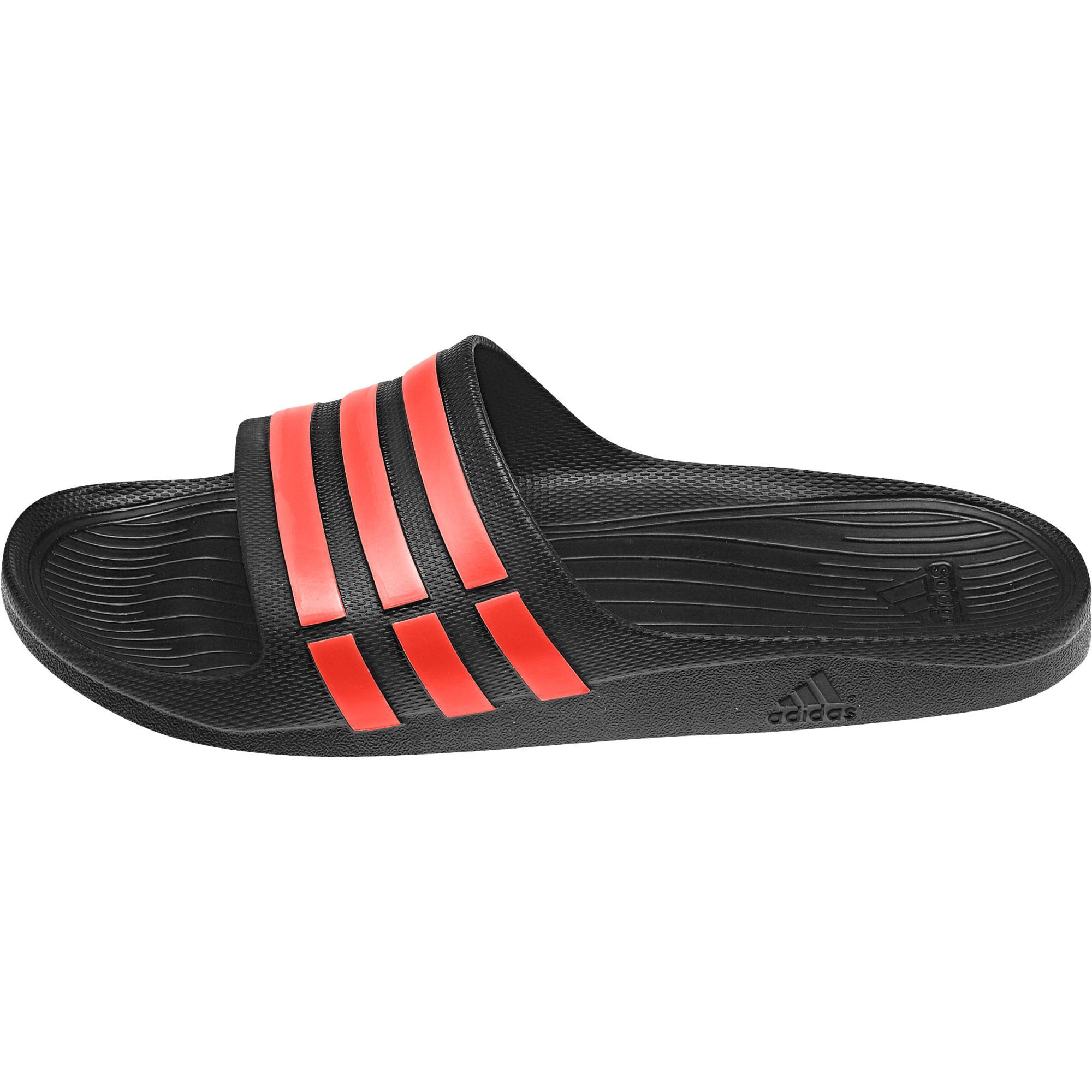 borde Excesivo Y  Chanclas Adidas Duramo Slide (negro/rojo) - manelsanchez.com