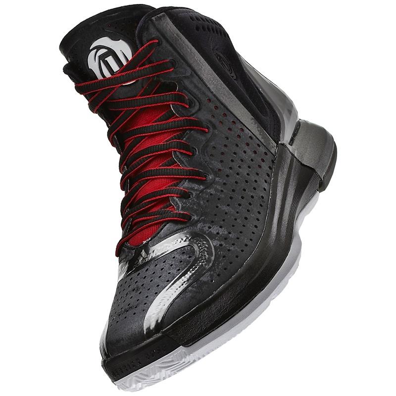 Adidas Derrick Rose 4 Junior (negro gris rojo) 821a37172cec1