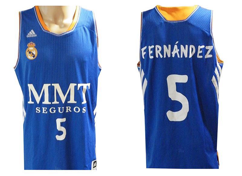 Camiseta Rudy Fernández Real Madrid Basket 13 14 (azul blanco) 656447a852a29