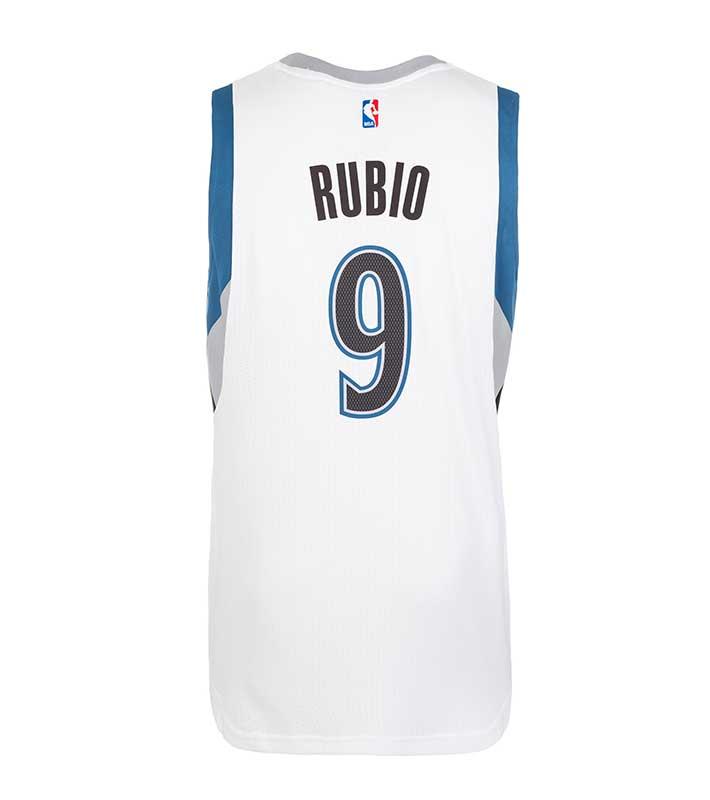Camiseta Utah Jazz Ricky Rubio #3 Icon 2017-18 Azul baratas