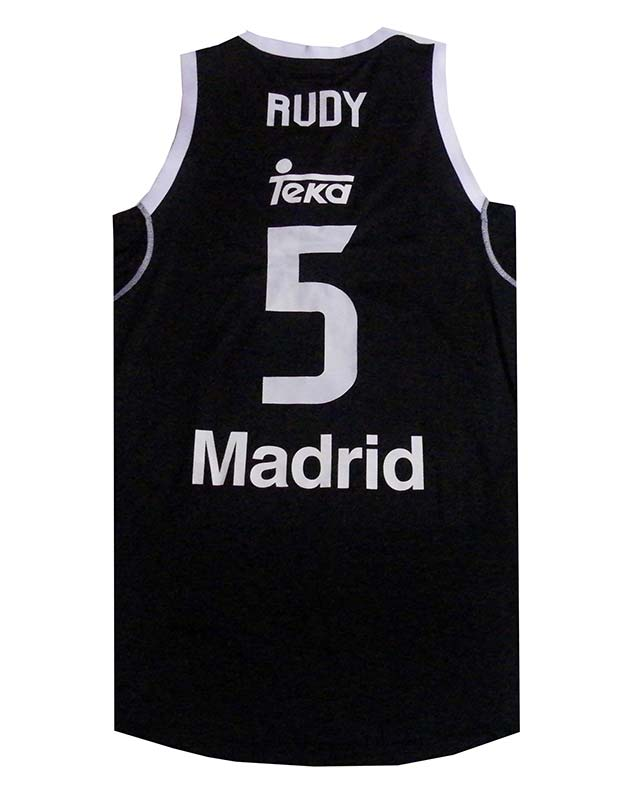 Camiseta Rudy Real Madrid Basket 2014 Negra