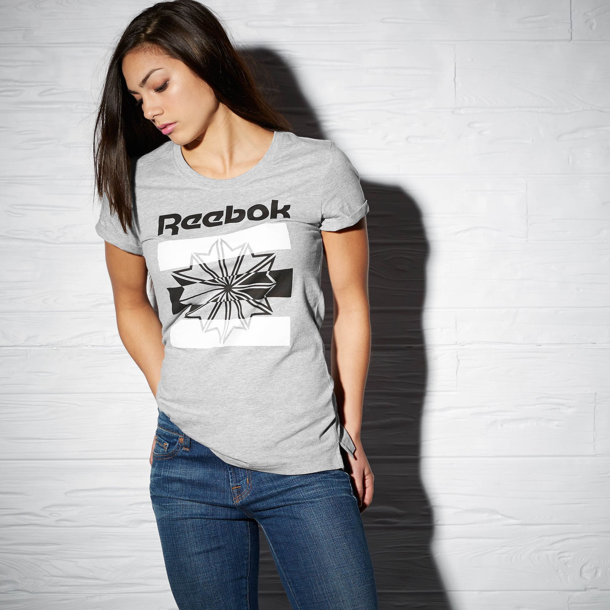 Camiseta Reebok Starcrestgris Reebok Classic Classic Mujer Camiseta Mujer Camiseta Reebok Classic Starcrestgris TK31clFJ
