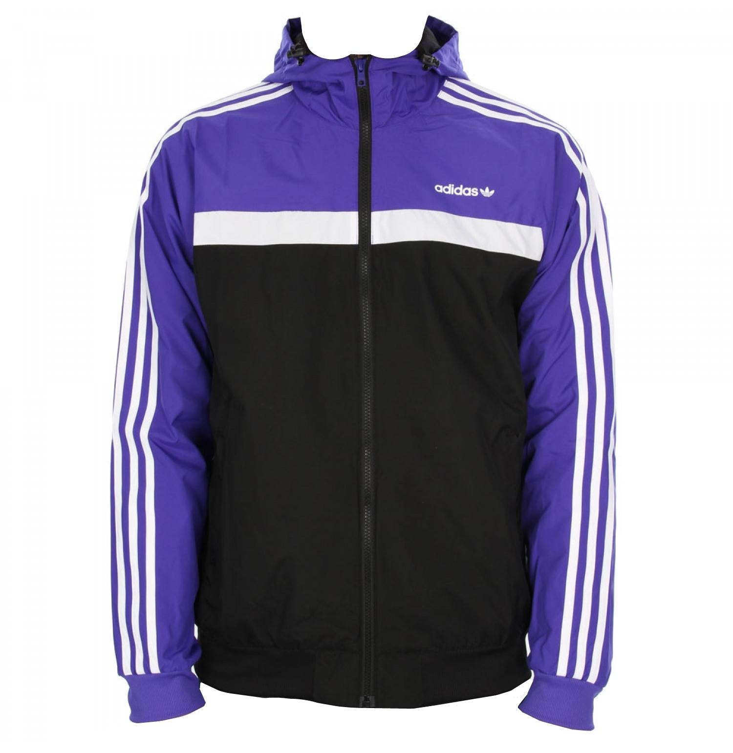 distorsión Subdividir liberal  Adidas Originals Chaqueta Marathon 83 Windbreaker (negro/azul/b