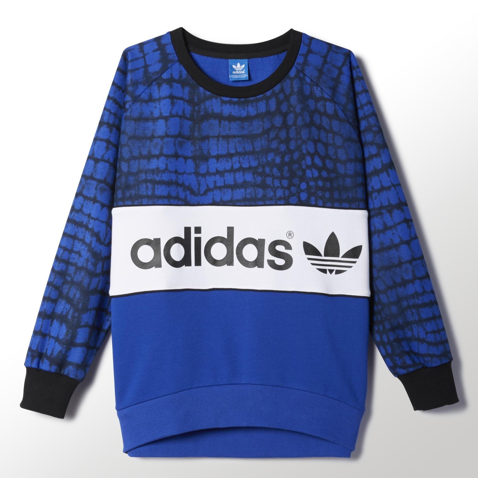 Mujer New azulblanconegro York Adidas Sweater City Originals axwft1tq5