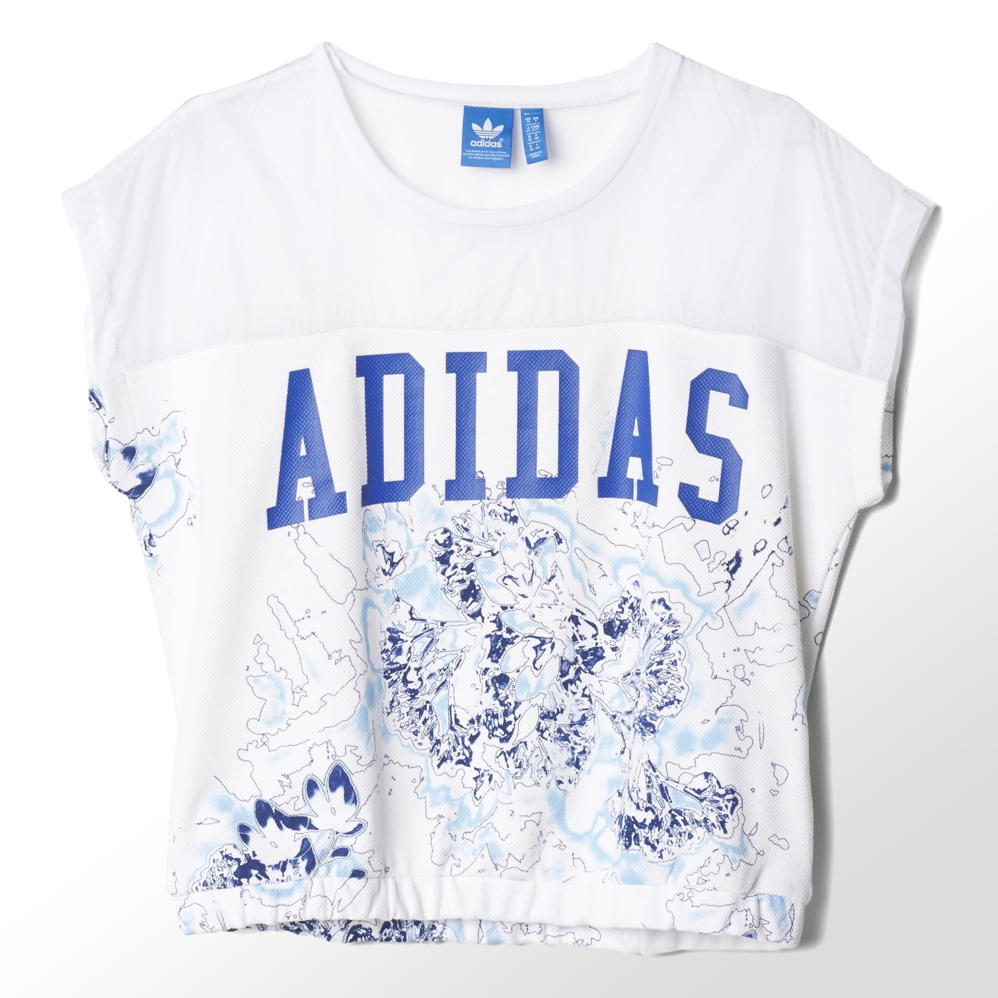 Adidas Originals Camiseta Mujer London Logo (negro/azul)