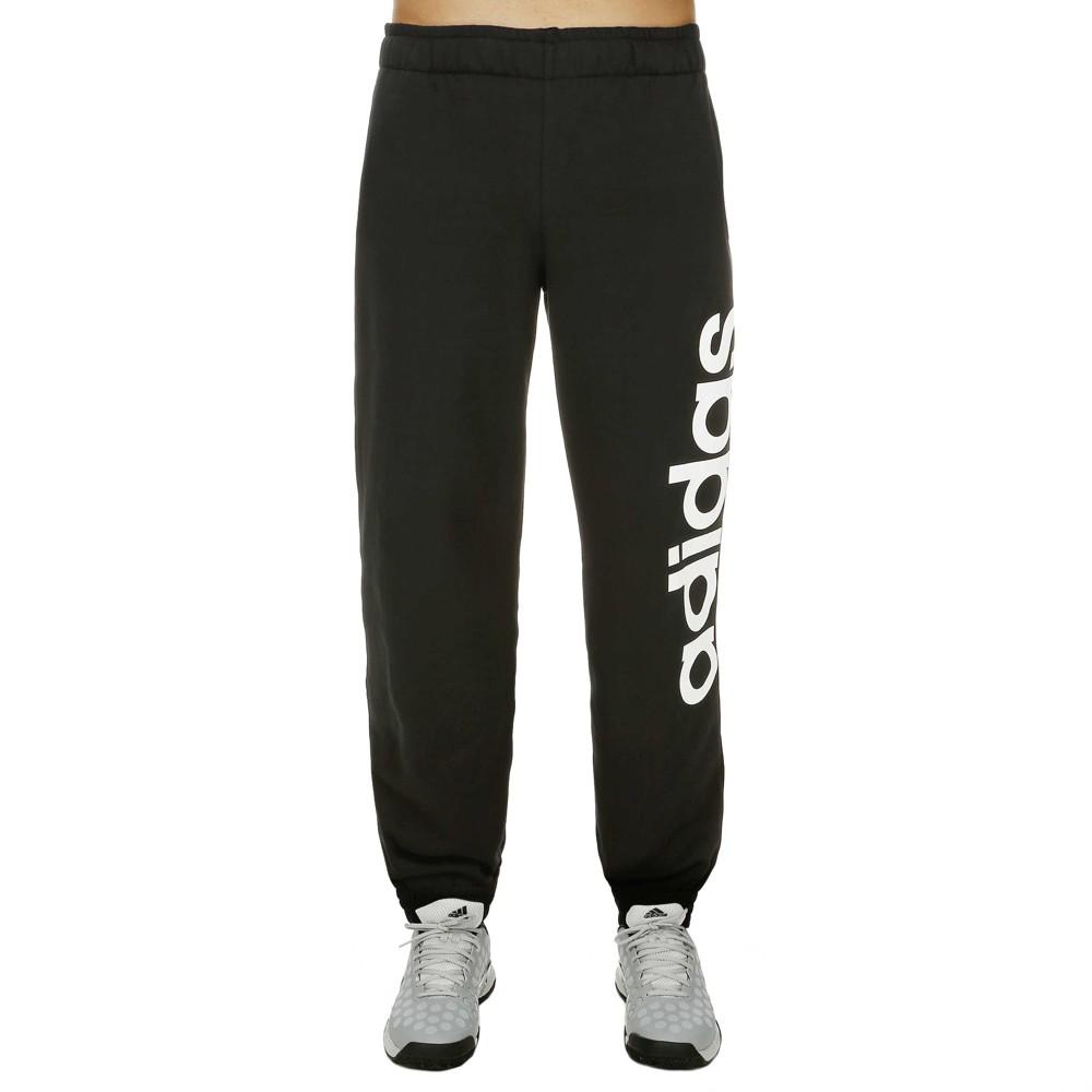 check out d8d06 6b60b Adidas Pantalón Sport Essentials Linear Regular (negro blanco)
