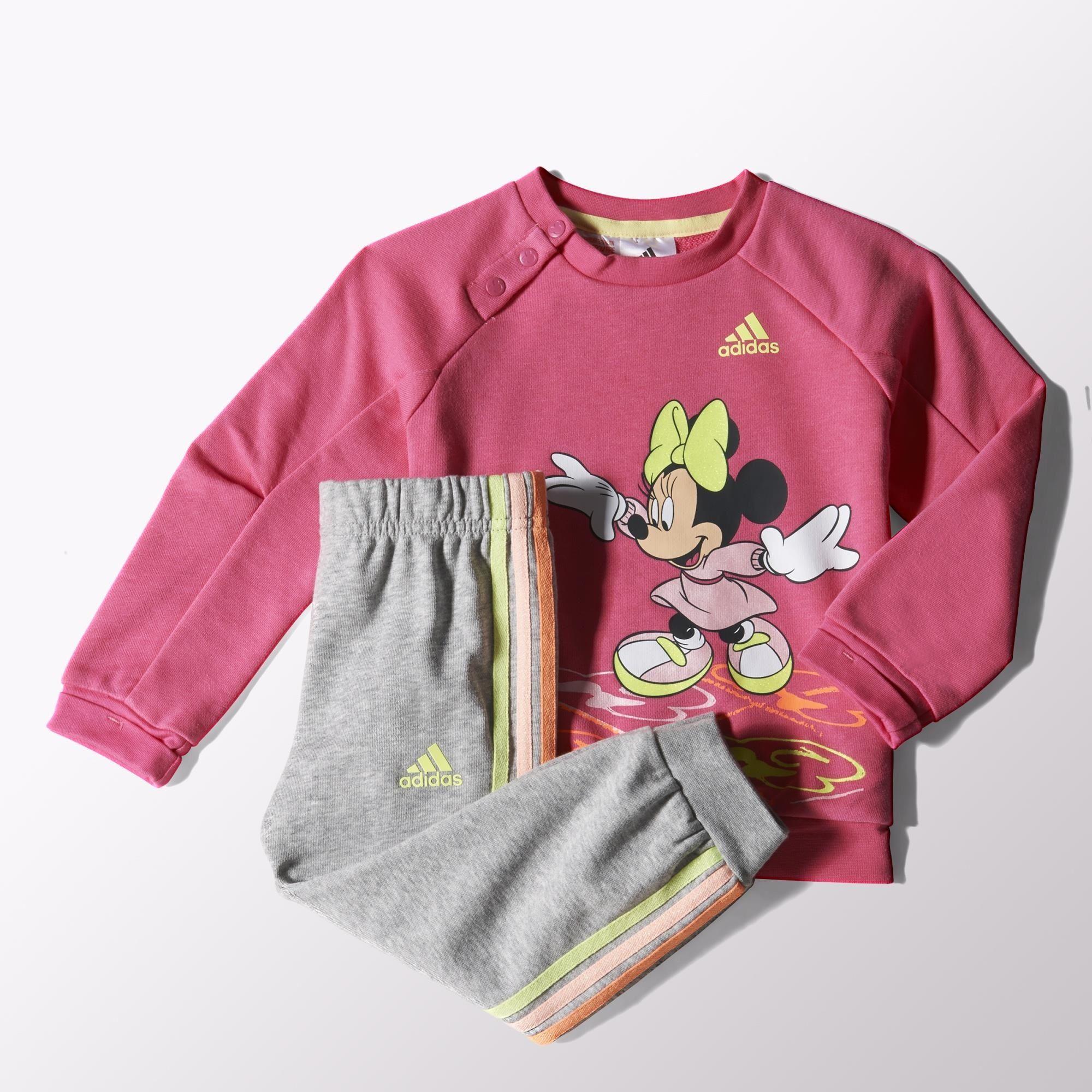 df96f14878f Adidas Chándal Infantil Disney Minnie Mouse (rosado gris lima)