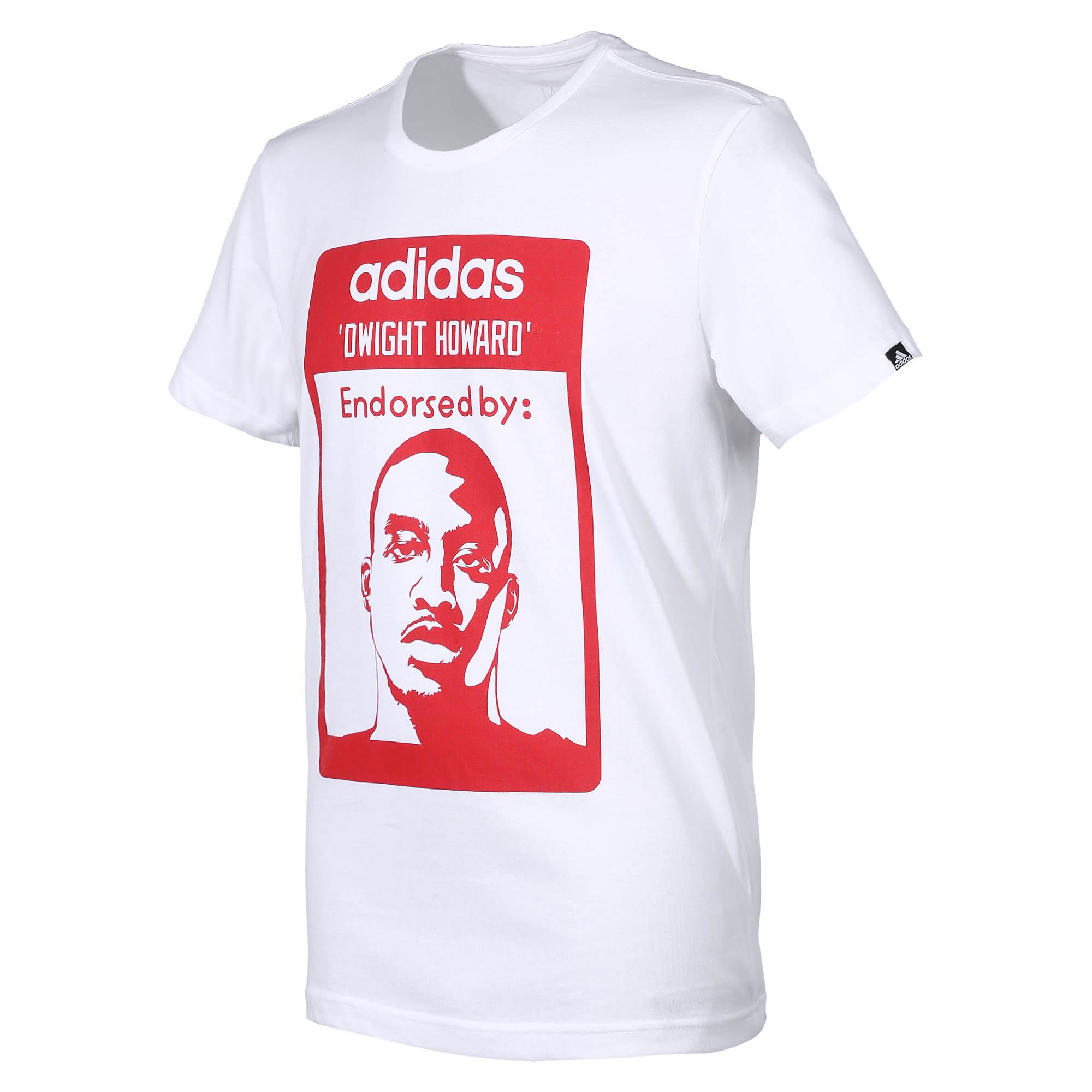 Adidas Camiseta Endorsed By Dwight Howard Blanco Rojo