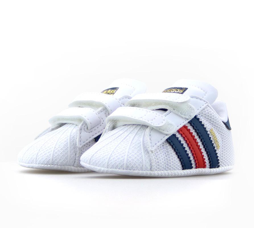 buy online 15b33 593b6 Adidas Superstar Crib (blanco rojo azul)