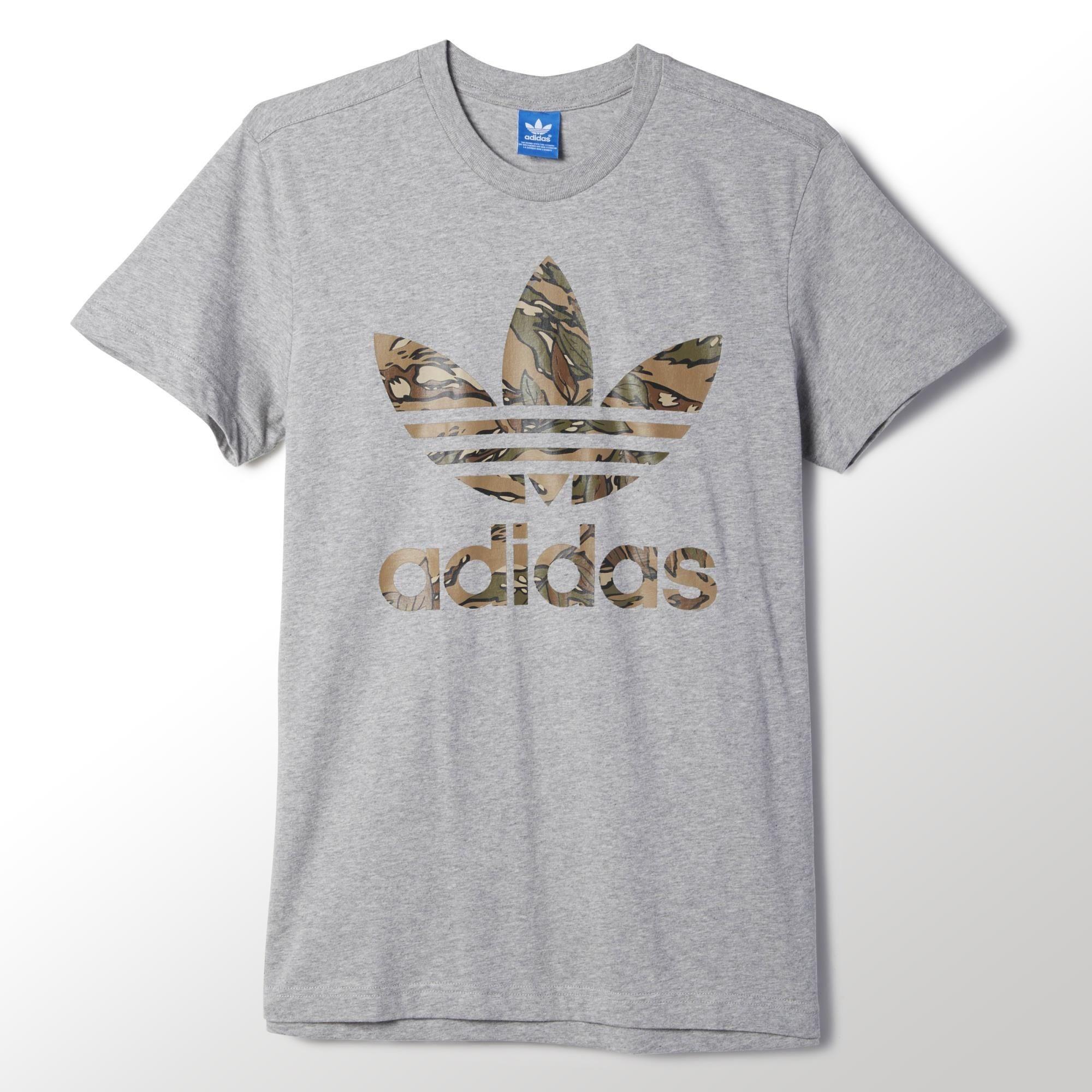 camiseta gris adidas