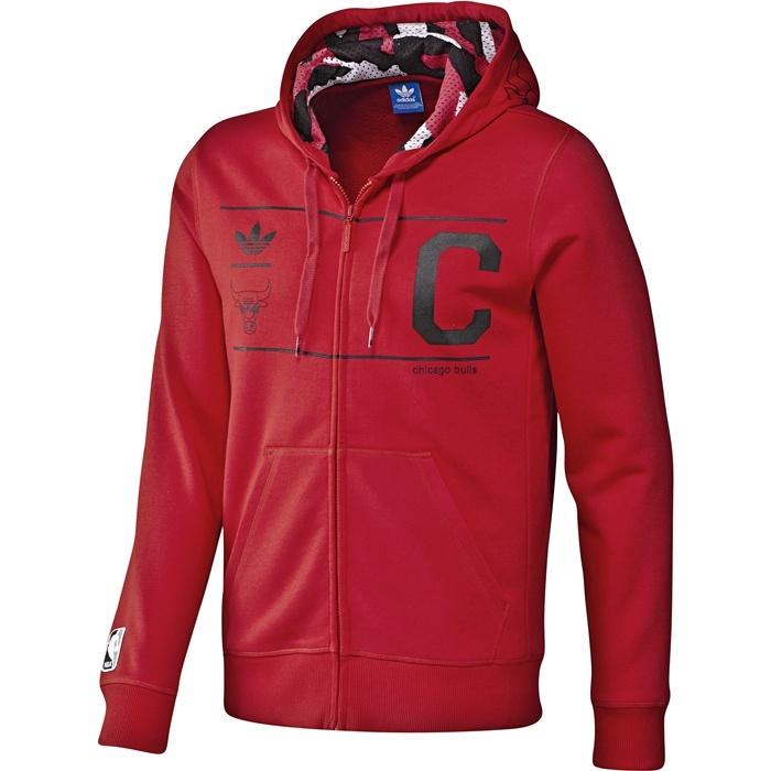 Adidas Chaqueta Capucha Chicago Bulls (rojonegro)