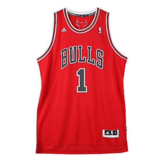 Adidas Camiseta Swingman NBA Rose Bulls (rojonegro)