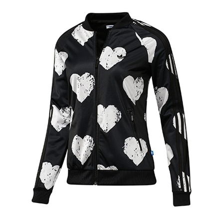 Adidas Chaqueta Mujer Heart Medlist TT (negro blanco) c400cf70774d
