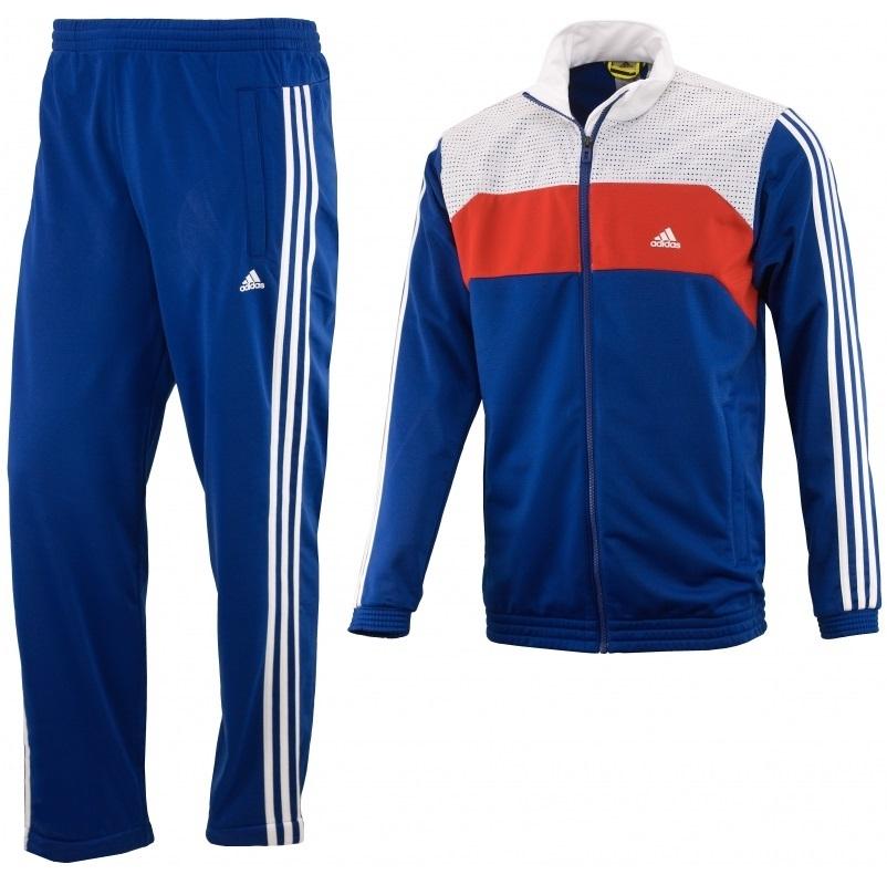 Adidas Chándal TS Zug Kn OC (azul / blanco / rojo)