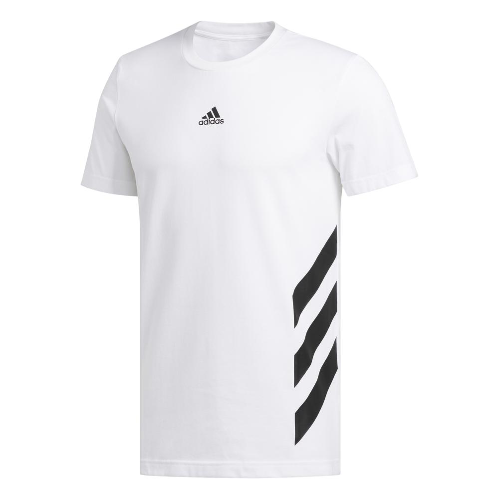 Ninguna favorito respirar  Adidas Basketball 3-Stripes Tee (white) - manelsanchez.com