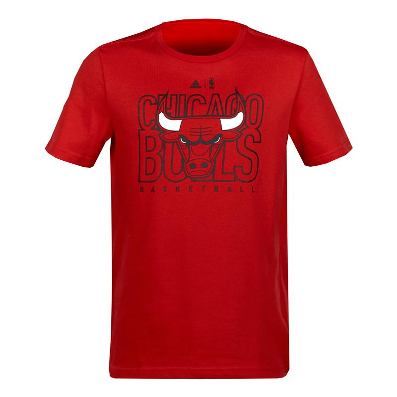 Adidas Camiseta Youth 3 NBA Chicago Bulls (rojo negro) 7f721e33de1