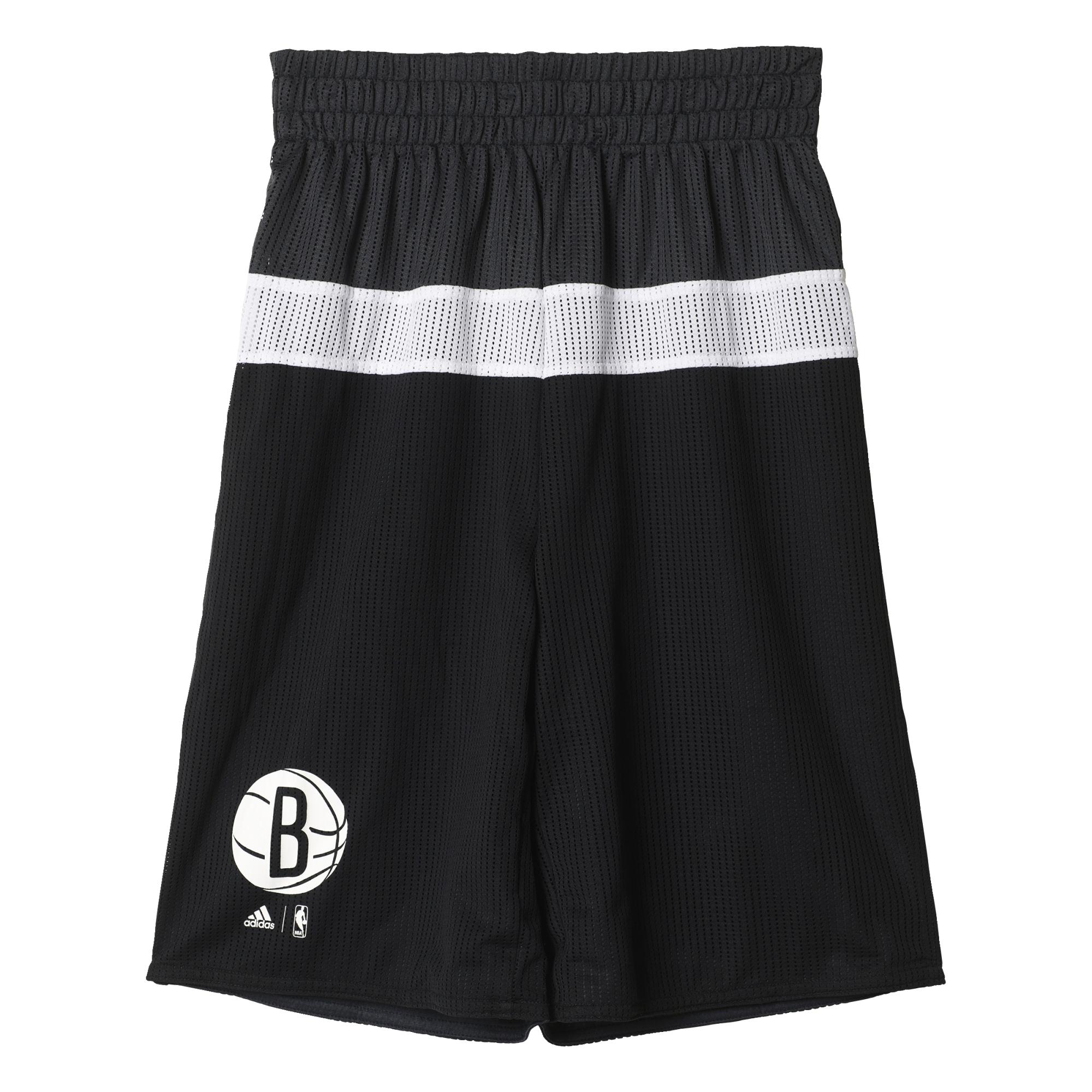 Adidas NBA Short Niño Brooklyn Nets Winter Hoops Rev (Black White) 071ca9d3282