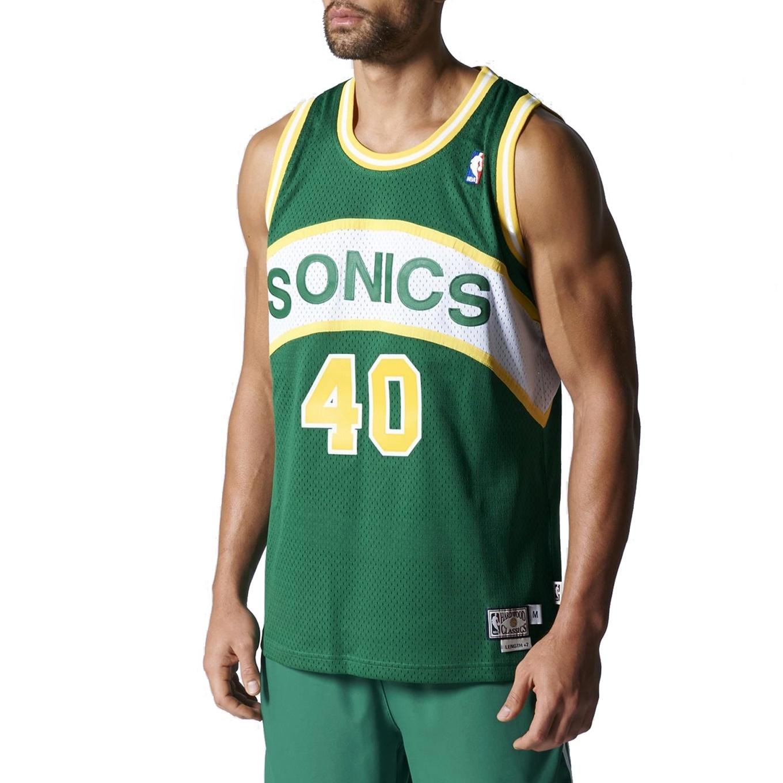 2ce38b59a Adidas NBA Swingman Retired Seattle Sonics Kemp  40 (verde amarillo)
