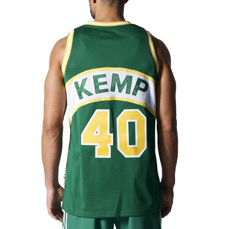 637437c9d ... Adidas NBA Swingman Retired Seattle Sonics Kemp  40 (verde amarillo)