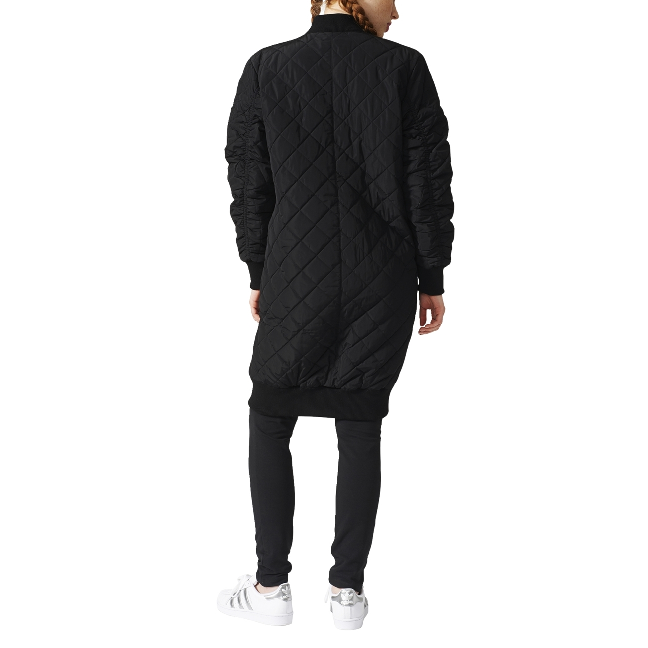 06e067ad6 Adidas Originals Bomber Long Quilted Jacket W (Black)