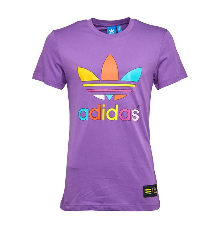 15042add85cae Adidas Originals Camiseta Mono Color Trefoil Pharrell Williams (violeta)