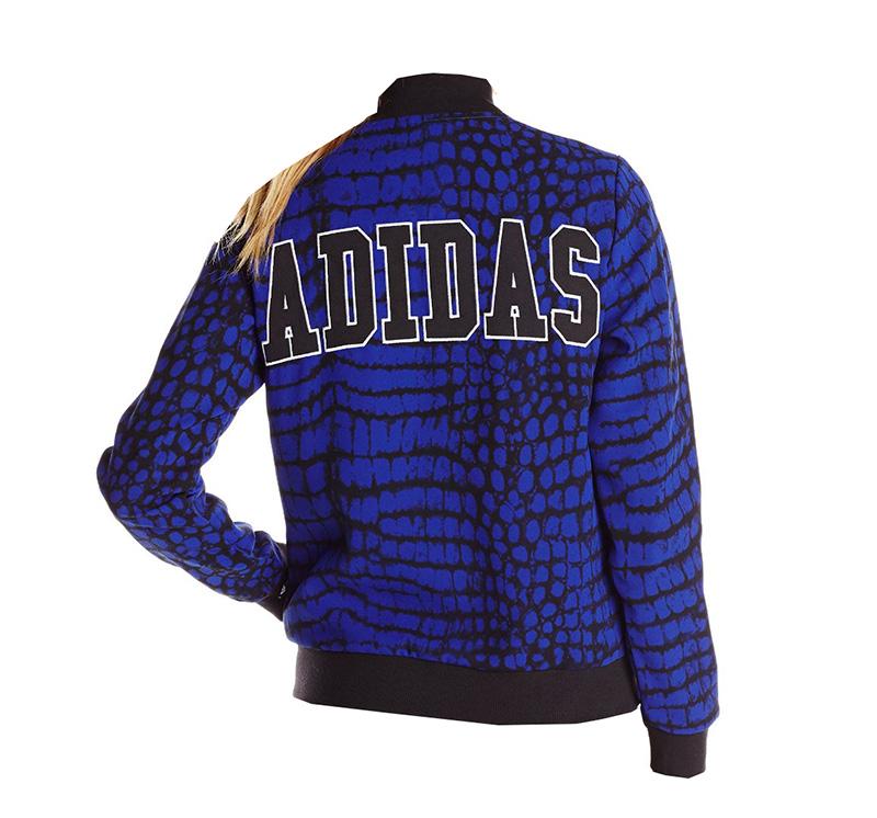 d28d64bd46d ... Adidas Originals Chaqueta Mujer New York Printed Superstar TT  (azul negro)