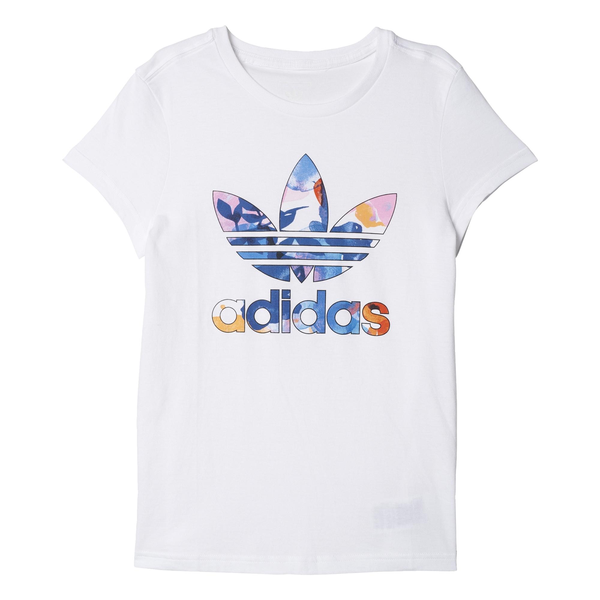 the best attitude bd0ab ca347 Adidas Originals Classic EQT Trefoil Logo Tee J (white multicolor)